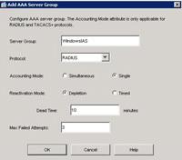ASA AAA server group