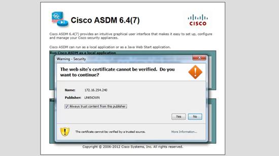 ASDM Certificate