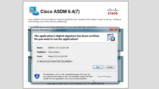 ASDM Digital Certificate