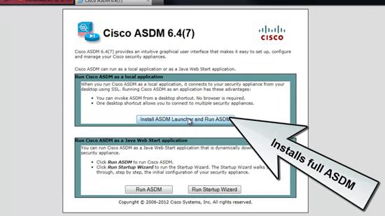 Install ASDM