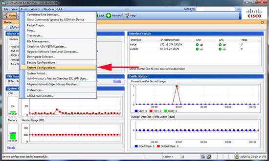 asdm backup configuration