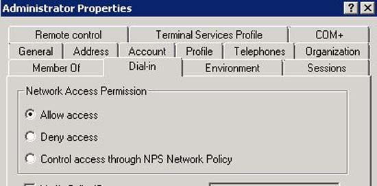 Allow VPN