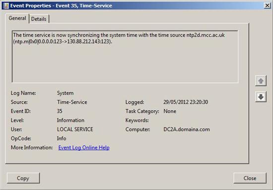 Event ID 35 Server