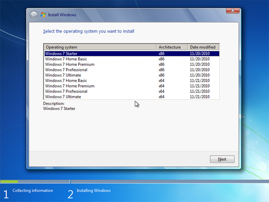 Windows 7 multi install media
