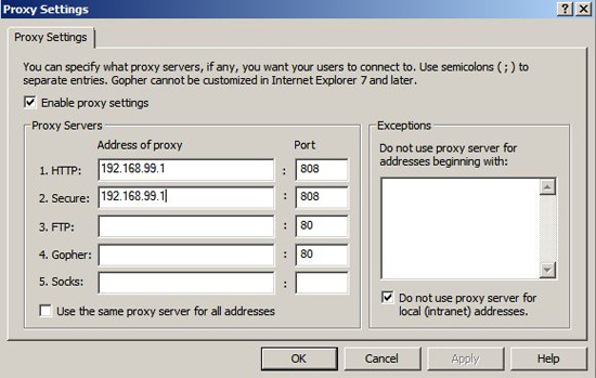 lock proxy with gpo