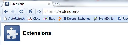 Extensions - Chrome