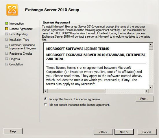 Exchange EULA
