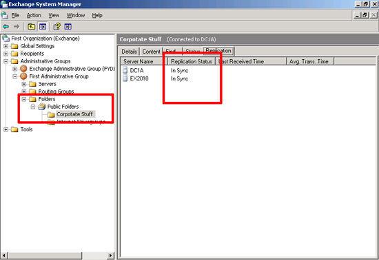 Check Public Folder sync