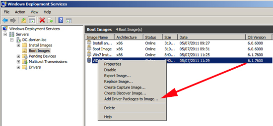 Add Driver Packages to Image