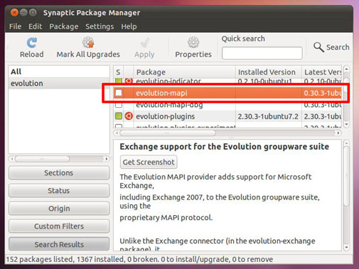 Mapi Exchange Ubuntu