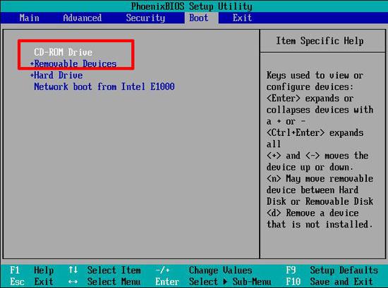 bios boot order vmaware