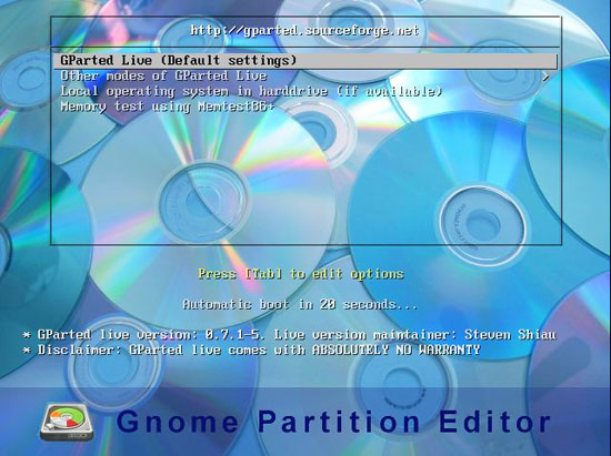 linux partition editor