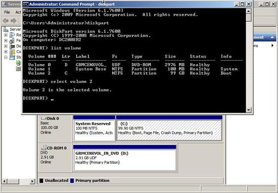 vmware diskpart