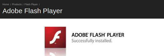 flash player installed linux