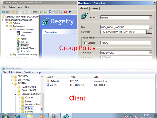 Deploy Registry Key via GPO