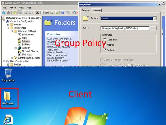 Deploy folders via gpo