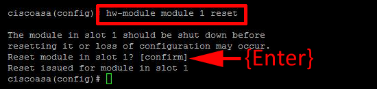 restart csc module