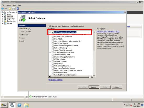install .net 3.5