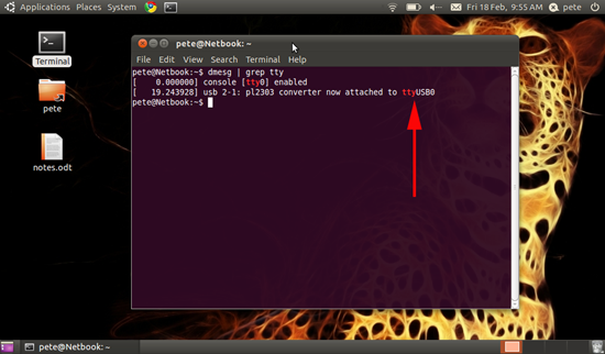usb to serial driver ubuntu