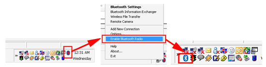 enable bluetooth