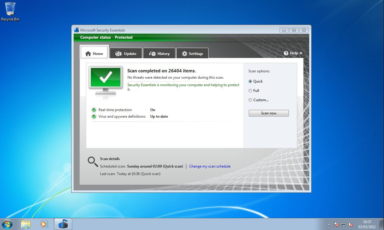 Microsoft security essentials windows 7 32 64 bits