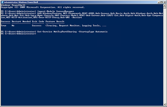 Roles Exchange2010 PowerShell