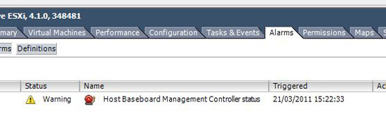 Host Baseboard Management Controller status