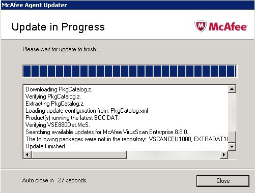 mcafee update