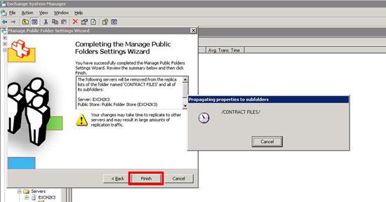 Manage public folder migration