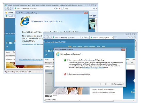 welcome to internet explorer