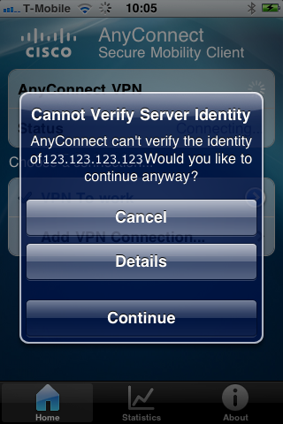 AnyConnect iPhone Certificate