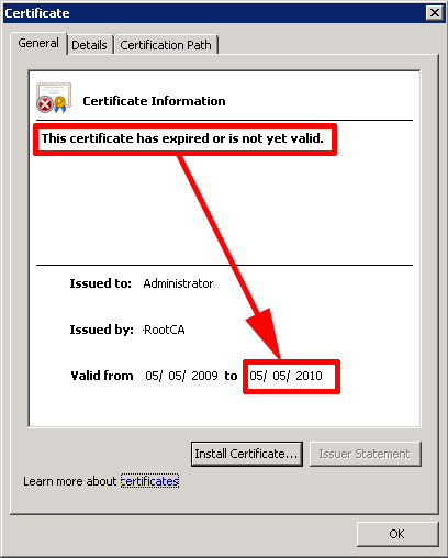 certificate expired