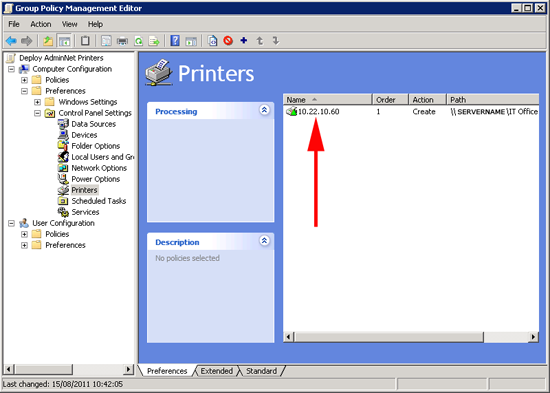 create printer with GPP