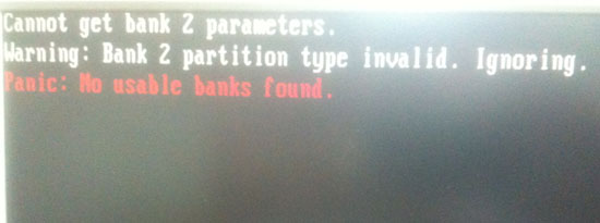 No usable Banks found