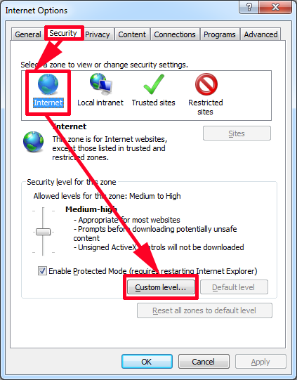 ie9 only secure content is displated