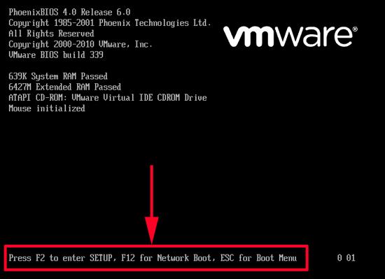 boot delay vmx