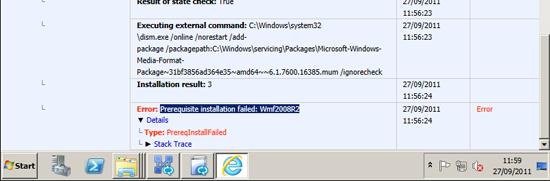 wmf2008r2 error