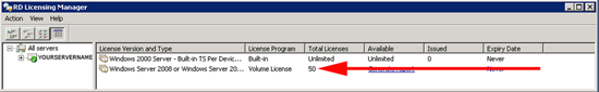 remote desktop licensing