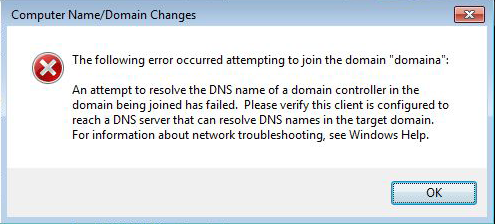cannot join domani DNS