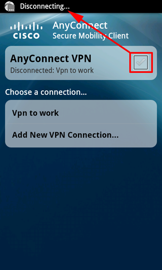 android anyconnect credentials