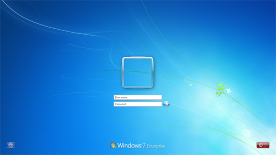 Win 7 clean login screen