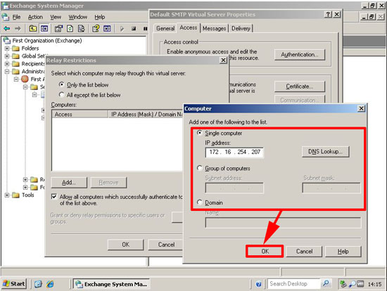 allow ip to relay 2003