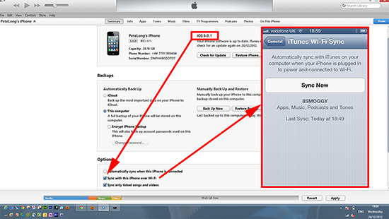 itunes wi-fi IOS 6