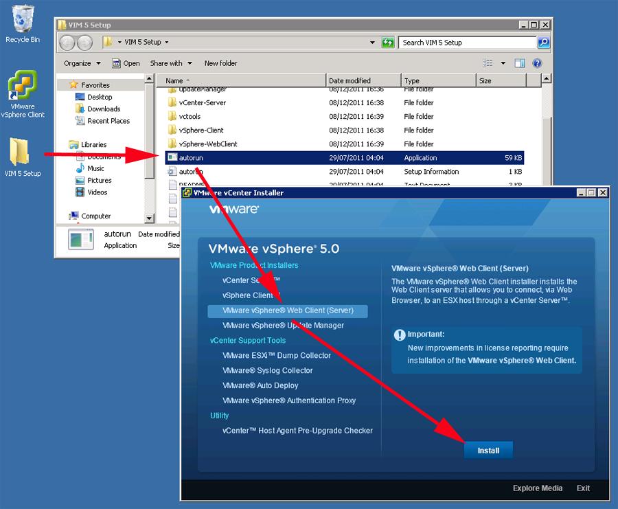 Image result for vsphere web client install