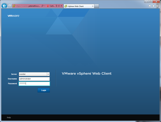 vsphere4 web client