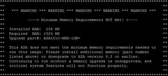 asa memory error