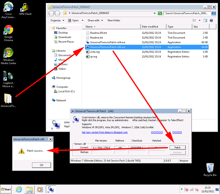 Multiple RDP Remote Desktop sessions on Windows 8