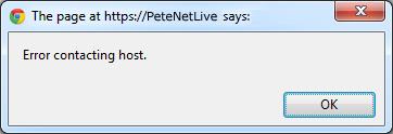 error contacting host