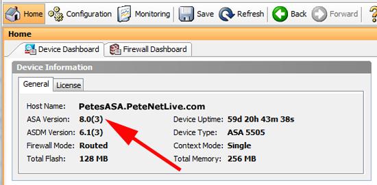 Cisco ASA OS Version