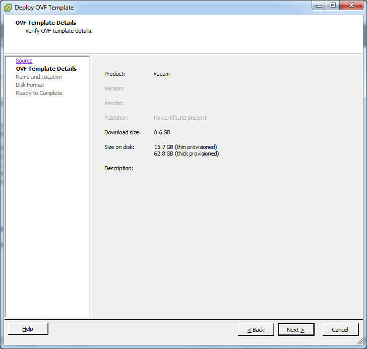 Import / Deploy an OVF Template to a Virtual Machine